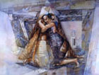 TCHARY Yuri - The kiss, acquerelli, cm 50x70, 2003